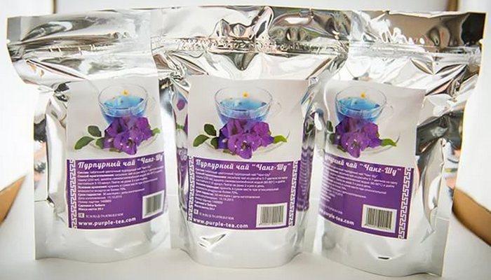 Пурпурный чай чанг шу: как принимать для похудения