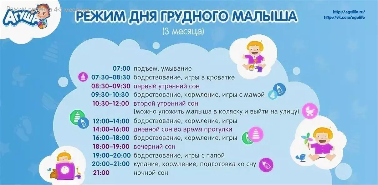 Почасовой режим дня новорожденного в первый месяц: питание, сон, гигиена + видео комаровского