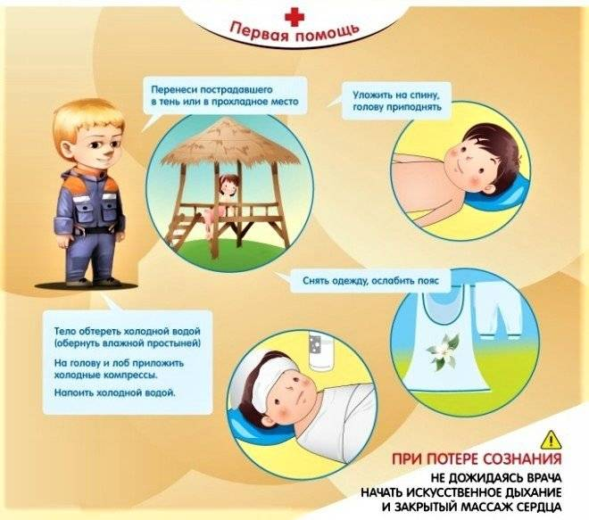 Профилактика солнечного удара у детей