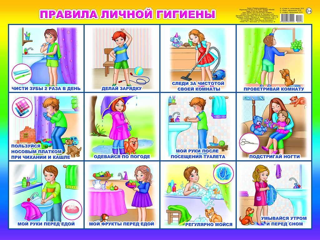 6 правил личной гигиены для детей