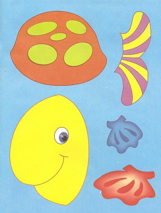 Особенности занятий аппликацией из цветной бумаги для самых маленьких