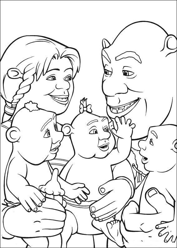 Раскраска шрек для детей высокого качества скачать и распечатать