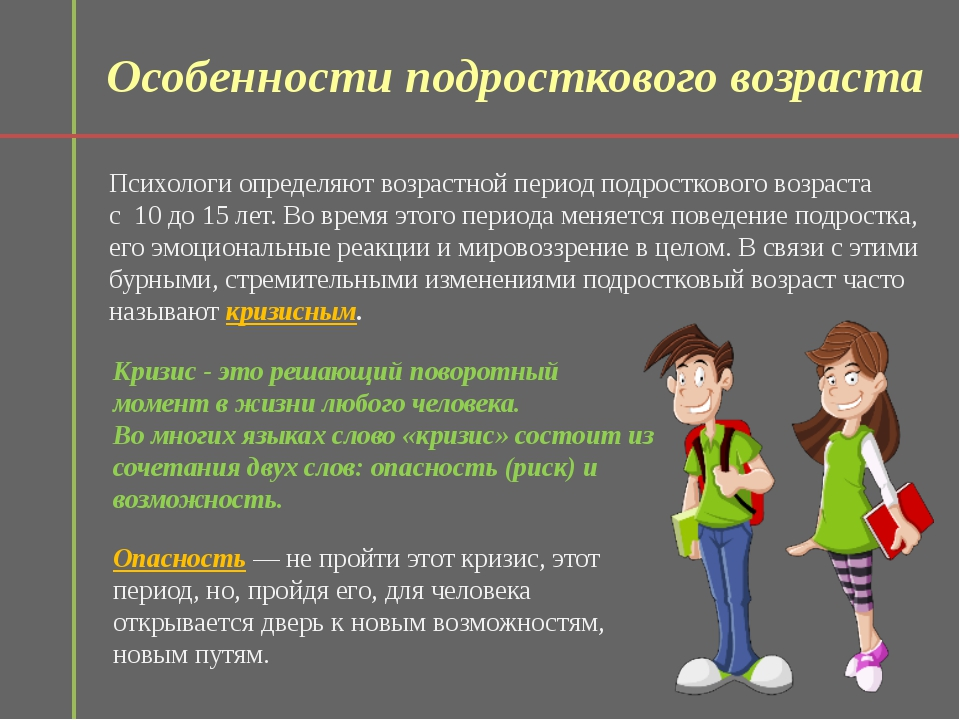Подростковый возраст и его особенности | мбоу сош №41 г. белгорода