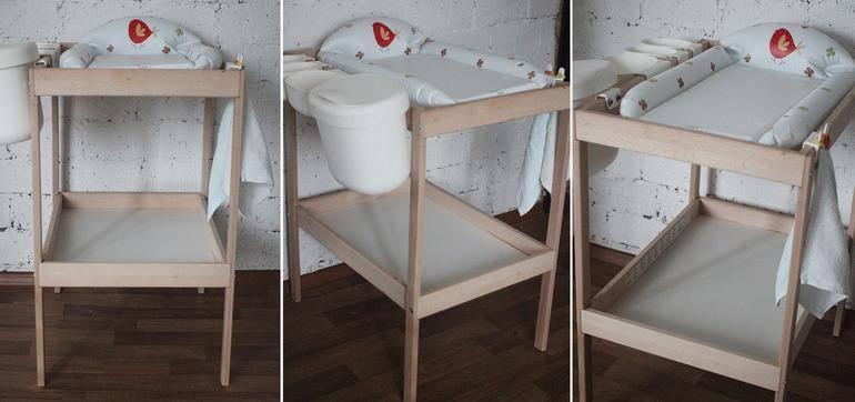 Пеленальный столик: актуальные модели для современных младенцев