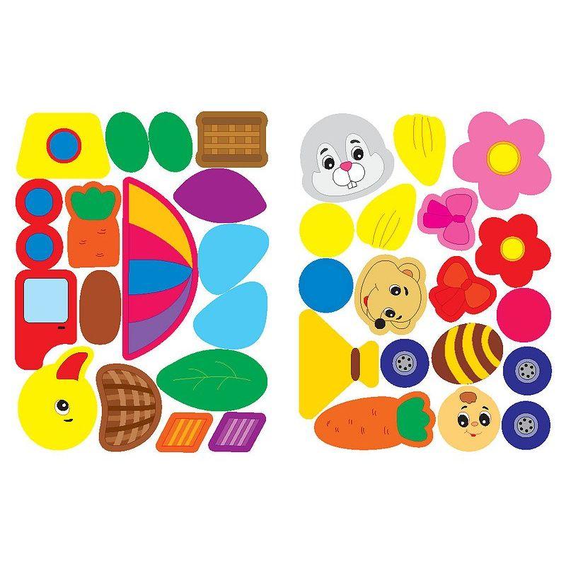 Аппликации для самых маленьких. занятие с ребенком: аппликации со стикерами для самых маленьких.