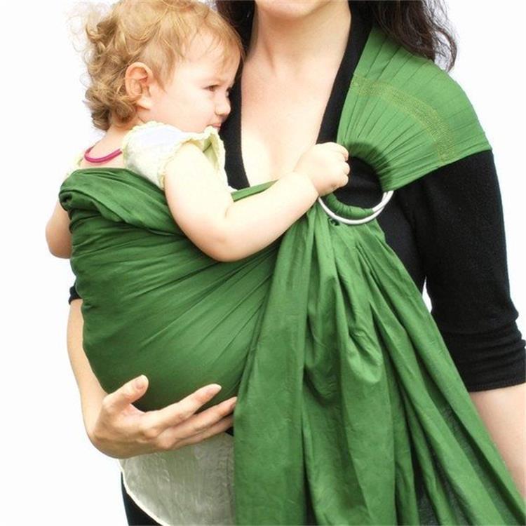 Слинг с кольцами для новорожденных: как завязывать и носить