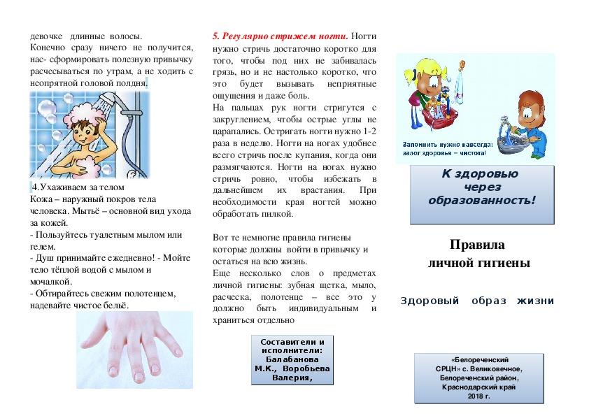 Правила личной гигиены девочки-подростка | поликлиника 6
