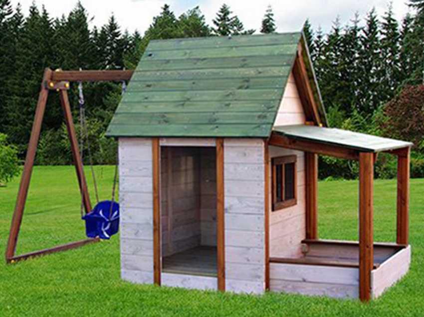 Детский домик на дереве вместо игровой площадки
