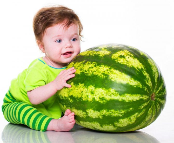 С какого возраста можно арбуз ребенку