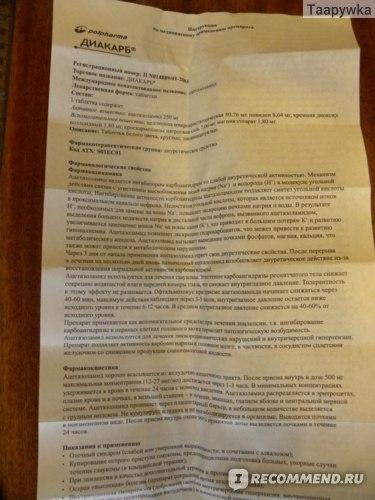 Диакарб для детей: инструкция по применению, схема приема с аспаркамом