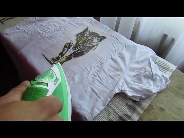 Как утюгом приклеить термонаклейку на одежду своими руками в домашних условиях?