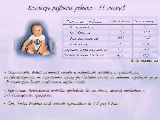 Физиологическое развитие малыша в 11 месяцев ~ блог о детях