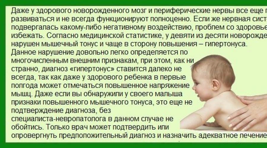 Тонус мышц ребенка и его нарушения     материнство - беременность, роды, питание, воспитание