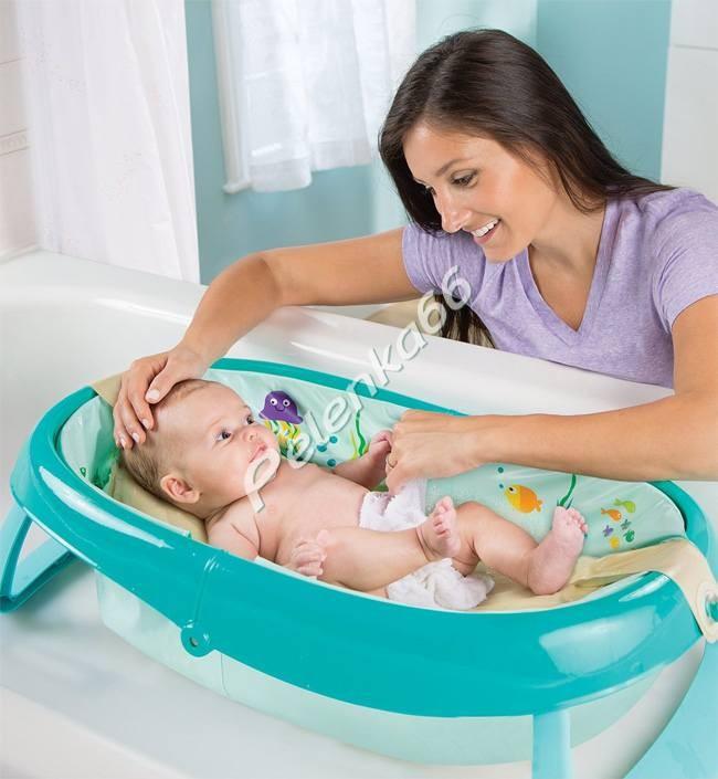 10 лучших ванночек и горок для купания новорожденных