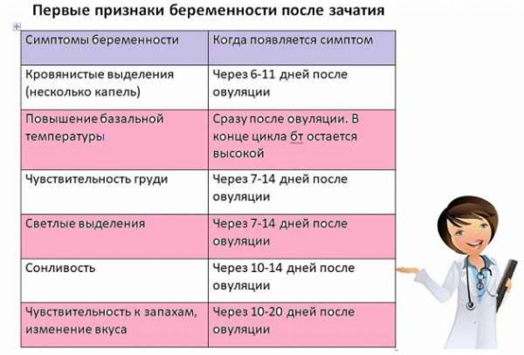 ➤ признаки беременности на ранних сроках