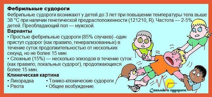 2 разновидности судорог при температуре у ребенка и 10 факторов риска их развития