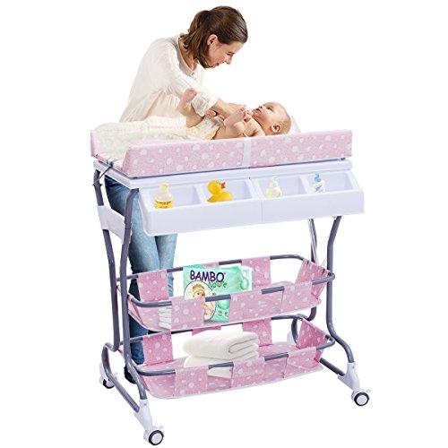 Пеленальный столик для новорожденных (50 фото и 2 видео): обзор моделей и советы по выбору