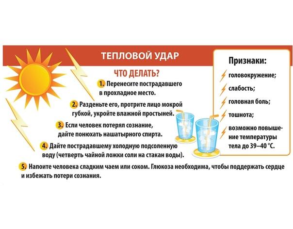 Солнечный удар: первая помощь и профилактика