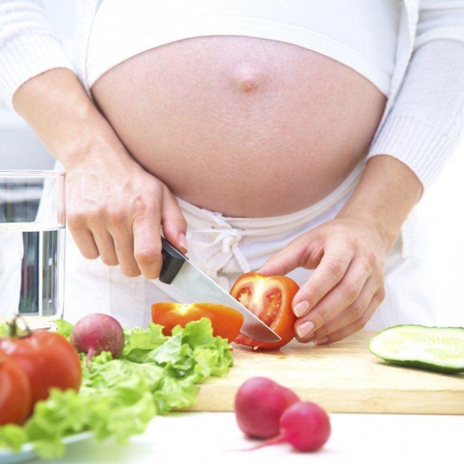 Какие овощи полезны при беременности?