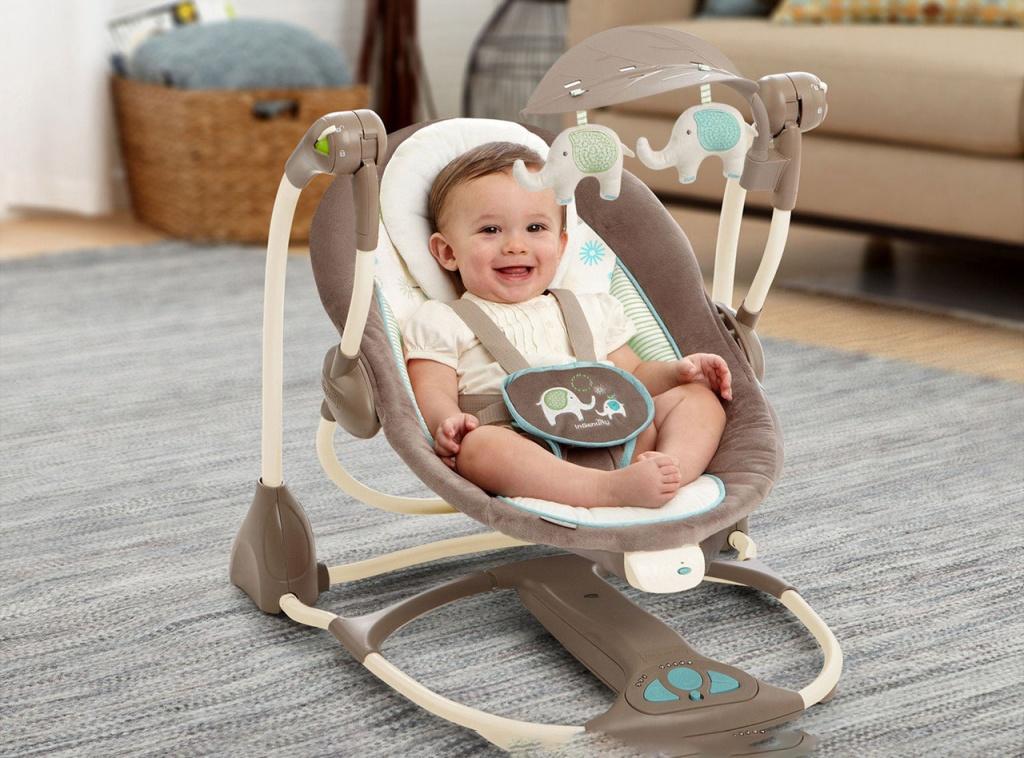 Детское кресло качалка: виды моделей и правила выбора