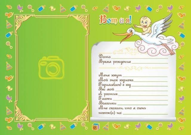 Метрика(паспорт новорожденного)   страна мастеров