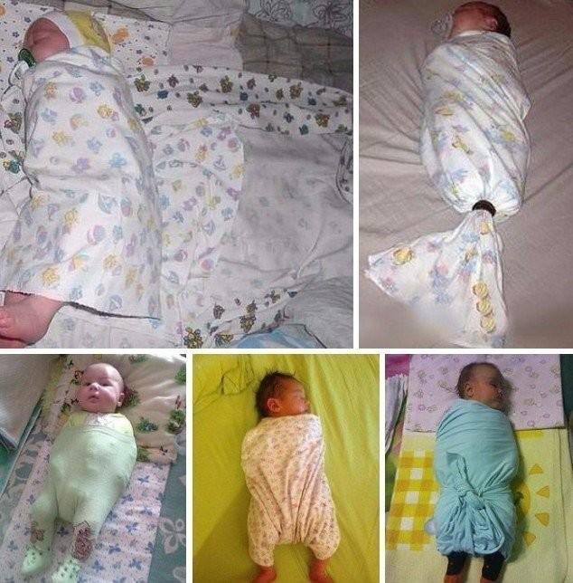 До скольки месяцев следует пеленать малыша?