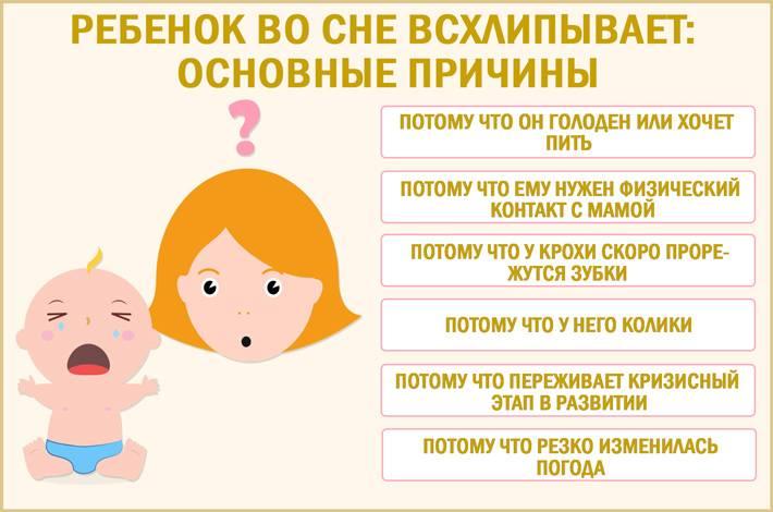Плач ребёнка во сне: отвечает комаровский. ребенок после истерики всхлипывает во сне