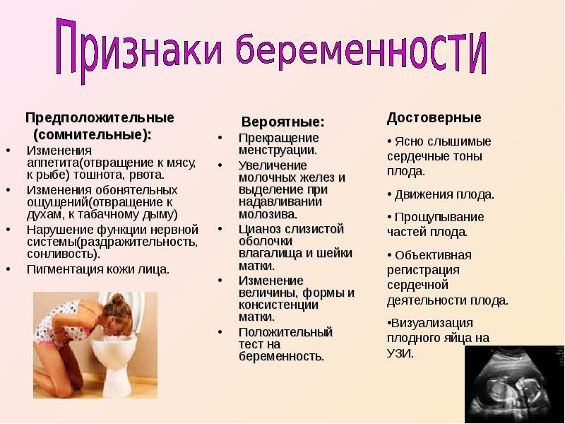 Первые признаки беременности на ранних сроках   гинекологи москвы