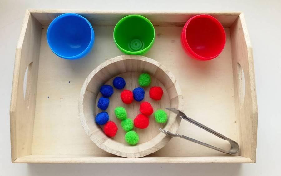 Мастер-класс педагогический опыт раннее развитие моделирование конструирование игры в духе монтессори для малышей от 10 мес до 2 лет коробки ленты материал бросовый помпоны продукты пищевые скотч тесто соленое
