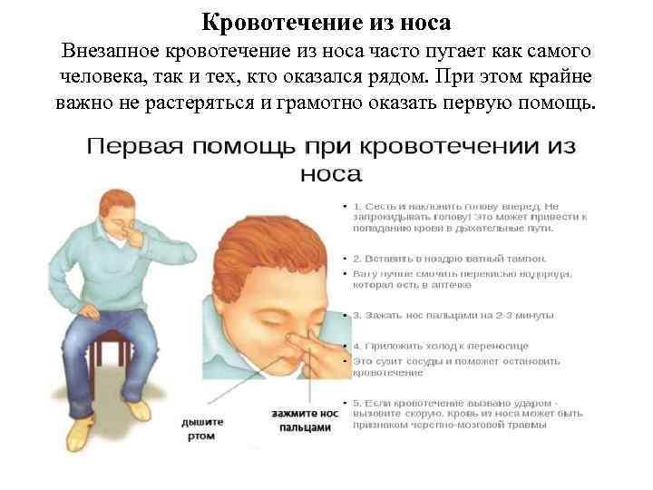 Носовое кровотечение у детей и взрослых, как оказать помощь?